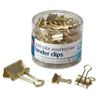 Officemate Binder Clips Assorted Sizes 30/PK Gold 31022