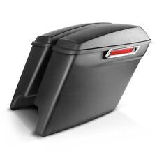 Borse Rigide Stretched per Harley CVO Road King 2014 nero opaco LC