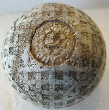 VINTAGE USED SQUARE MESH GOLF BALL CIRCA 1930'S  MADE IN ENGLAND