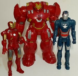 Marvel Titan Hero Iron Man Lot Of 3 Action Figures  2012-12015 Makes Sounds