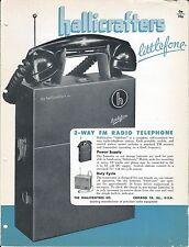 MRO Brochure - Hallicrafters - Littlefone - FM Radio Telephone - c1952 (MR15)