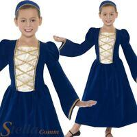 Girls Tudor Princess Costume Book Week Medieval Queen Victorian Kids Fancy Dress