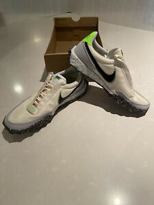 Nike Waffle Racer Crater Womens Shoes 9.5 Pale Ivory CT1983-102 New No Box Top