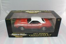 1971 Dodge Challenger R/T orange /white new old stock 1-18 ERTL #36671