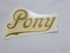 NSU PONY Letras Etiqueta adhesivo 40241n 104 x 54mm Oro