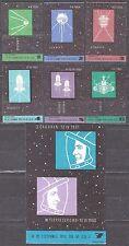 POLAND 1964 Matchbox Label - Cat.Z#486/91II+ZG492 set. Conquest of space.