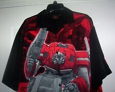 OPTIMUS PRIME TRANSFORMERS Hasbro Transformer Men's 2XL Camp Style Shirt RARE