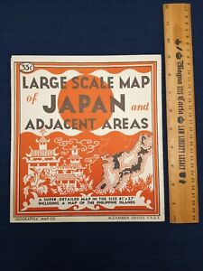 Vintage map Japan and its Possessions Japanese Empire    Japan pre - 1947 scarce