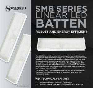 1x Syntech SMB Series Linear LED Luminaire 4Ft 120cm Batten / Free Double Tube