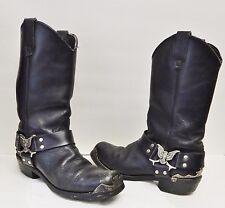Dingo Harness Boots Biker Leather Western Motorcycle Eagle Black Men's 8 EW