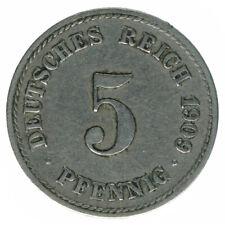 Deutsches Reich 5 Pfennig 1909 F A50608