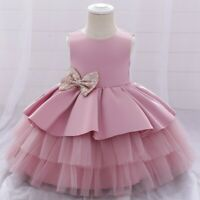 Girl Flower Princess Dresses Party Evening Gown Kid Bowknot Dress Xmas Gift