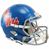 MISSISSIPPI OLE MISS REBELS BLUE RIDDELL SPEED FULL SIZE REPLICA FOOTBALL HELMET