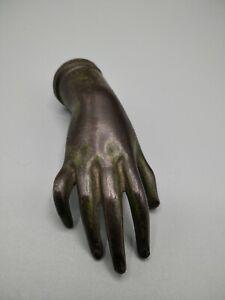 Antica mano in bronzo del 1800 scultura bronzo fermacarte old bronze hand
