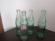 Four Vintage Coke Coca-Cola Bottles( One 8 oz and Three 6.5 oz)  Lot#548