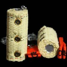 Fyrefli 100mm Reservoir FIRE POI set - Kevlar Wick - Long Burn Time (Juggling)