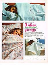 PUBLICITE  1967   DESCAMPS LAINE  draps