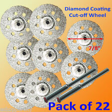20+2 Rotary Tool Glass Diamond Cut Off Wheel Disc 545 For Power Rotary Tool