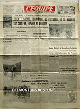 Journal l'Equipe n°380 - 1947 - Teisseire - Callens - Impanis - Schotte - Bidart
