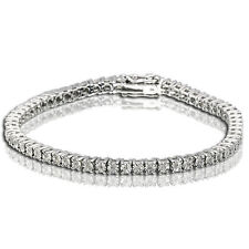 1 Cts Women's Tennis Bracelet with Natural Round Diamonds White Gold Finish