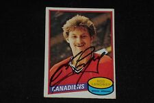 HOF ROD LANGWAY 1980-81 O-PEE-CHEE ROOKIE SIGNED AUTOGRAPHED CARD #344 CANADIENS