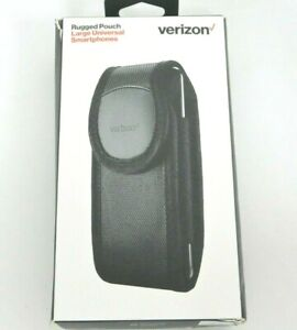 """New Verizon Rugged Pouch w/ Rotating Belt Clip for iPhone 11/ XR 6.1"""" - Black"""
