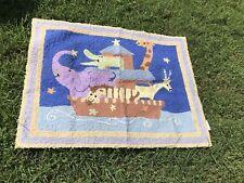 Kidsline Starry Night , Nursery Rug, Noah's Ark. Gently Used .