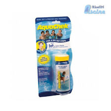 Strisce Aquacheck analisi 10 test x controllo sale acqua elettrolisi piscine