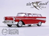 Chevrolet Nomad Red 1957 Year Yat Ming 1/43 Scale USA Diecast Model Toy Car