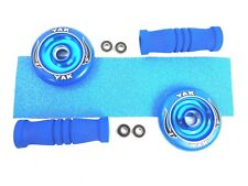 Blue Yak Scat Pack. Alloy 100mm Wheels 4Bearings Grip and Handle Grips FREE POST