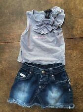 Calvin Klein Jeans 12M Girl, Tank & Jean Skirt 2 Piece Outfit