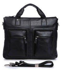 Vintage Leather Mens Messenger Satchel Briefcase Laptop Business Crossbody Bag