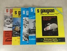 The S Gaugian Newsletter Magazine 1979-81 mixed lot 5 Issues Model Trains T38-5