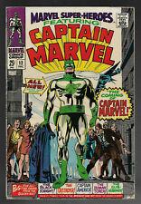 Marvel Super-Heroes #12 MARVEL 1st Captain Marvel App1967 Stan Lee FN HUGE KEY🔑