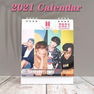 2021 Desk Calendar K-POP BTS BLACKPINK One Page Per Month Flip Desk Calendar