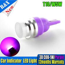 10x 360 degree Purple T10 W5W 2825 COB 1SMD 3D LED Bulbs For Car Parking Lights