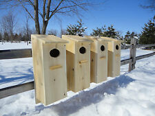 Wood Duck house,  Goldeneye Merganser Mandarin Nest Box, White Cedar (4pack)