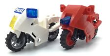 LEGO LOT OF 2 MOTOR BIKE PIECES MINIFIG ACCESSORIES MOTORCYCLES