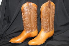 Vintage NEW  Laramie Hand Made Western Bull Hide Boots Size 7.5 Mens