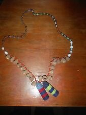 URARINA PERU AMAZON INDIAN BEAD, SEED AND WOVEN BOTTLES NECKLACE