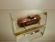 FALLER SLOT CAR FERRARI GT  - CHROME COPPER  L6.0cm - GOOD CONDITION IN BOX