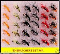 Trout Fly Fishing Flies, Snatcher Trout Flies, Hook Size 12  S76A x 30 flies