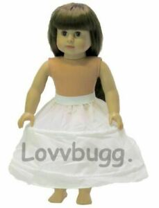 White Hoop Skirt Slip Crinoline 18 inch American Girl Doll Clothes Accessory 🐞