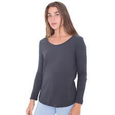 Cotton Long Sleeve Regular Size Basic T-Shirts for Women