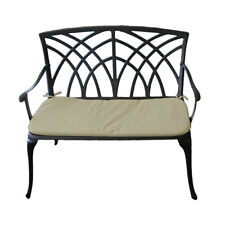 Charles Bentley Garden Bench Made of Cast Aluminium with Cushion - 2 Seater