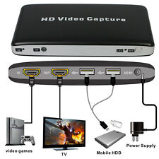 HDMI USB 2.0 Video Capture Card Box 1080P for HDD AV Video Game Converter Black