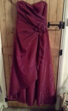LADIES GORGEOUS BRIDESMAID,  PROM, BALL GOWN BY DEBUT AT DEBENHAMS SIZE 10 RED