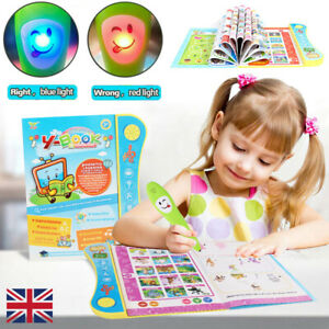 Educational Interactive Book Learning Toy For 2+Year Toddler Kids Children Gift
