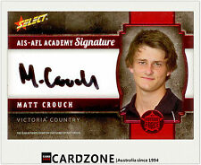 2013 Select AFL Future Force Black Signature Cards FFRS11 Matt Crouch (Adelaide)
