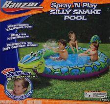 Banzai Sprinkling Spray 'N Play Silly Snake Pool 86x61 Age 2 + Nib